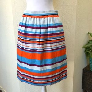 J Crew Striped Pencil Skirt Sz 4